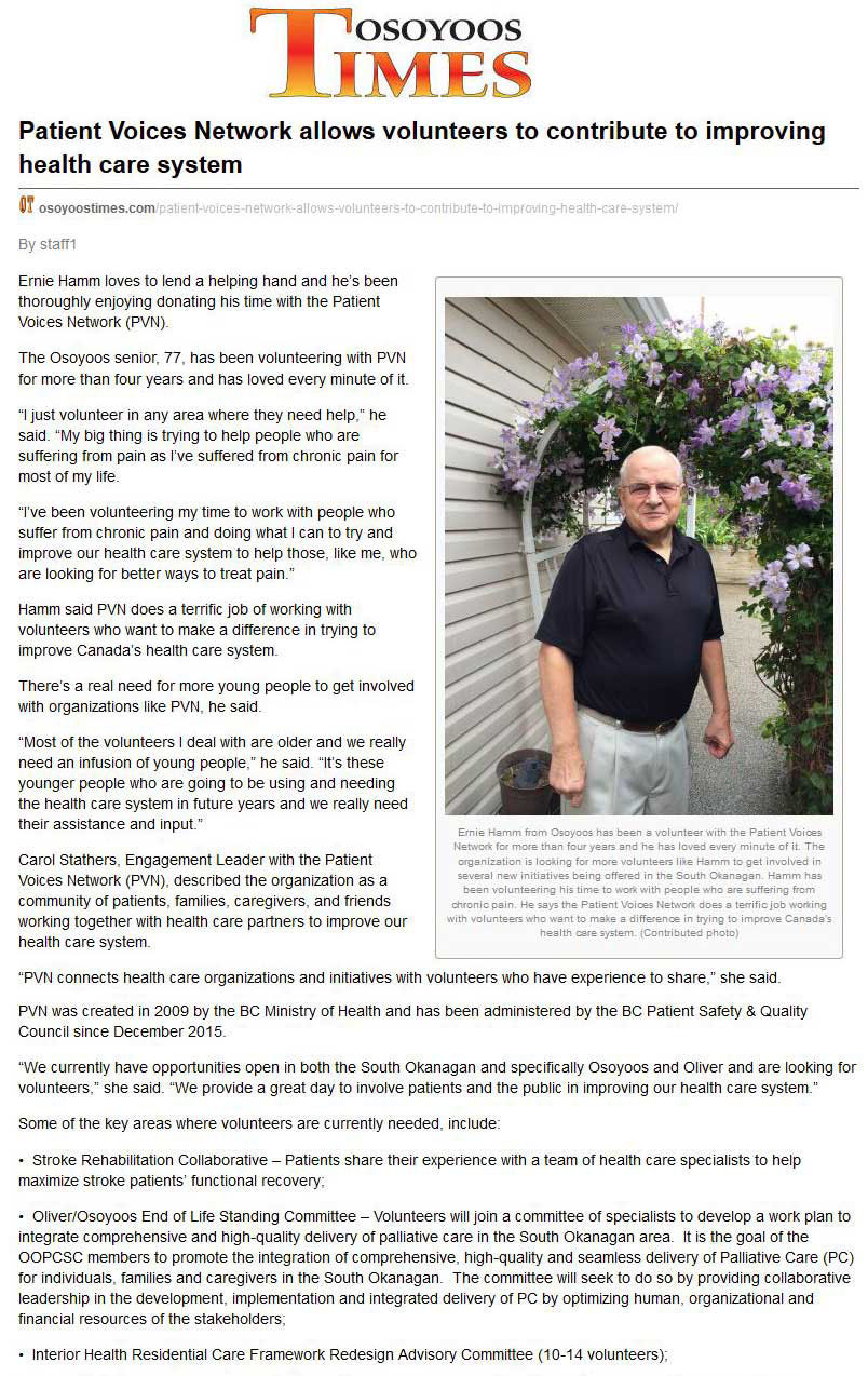 PVN.Osoyoos Times August 2016