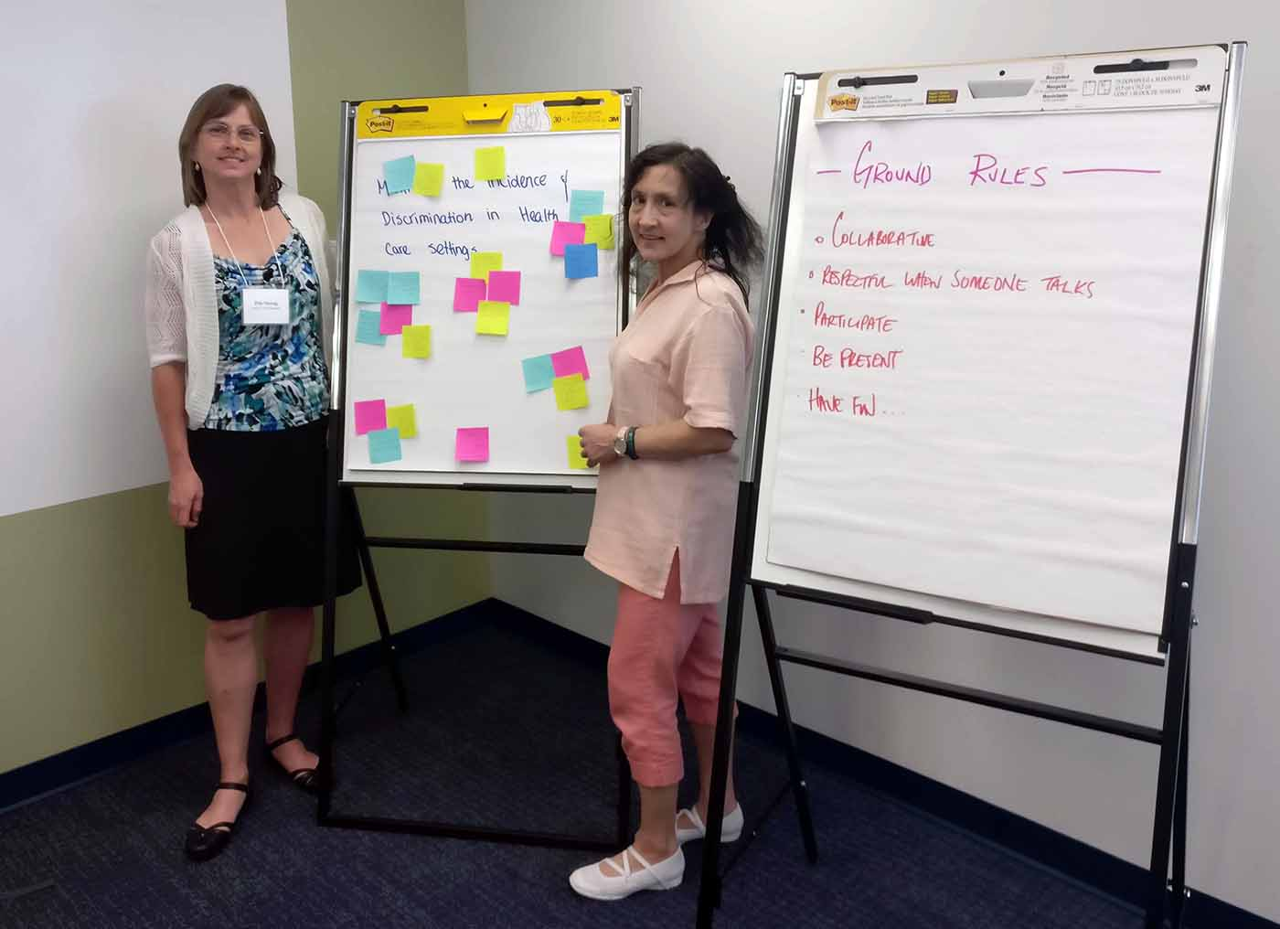 PVN Patient Partner Brenda Jagroop at the Design Sprint Workshop offered by the BCPSQC in June 2017.Patient Voices Network