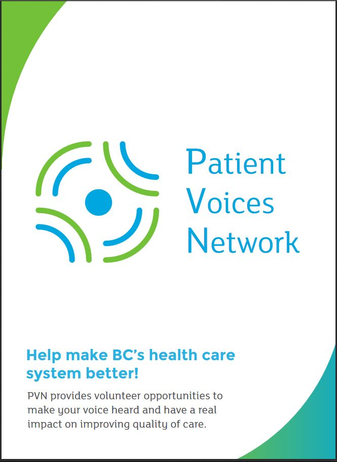 PVN Brochure.Learn more about the Patient Voices Network and how to become a PVN Patient Partner