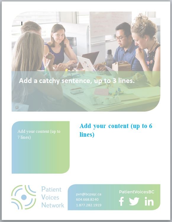 Editable poster.PVN Template.Promote your engagement opportunity for youth