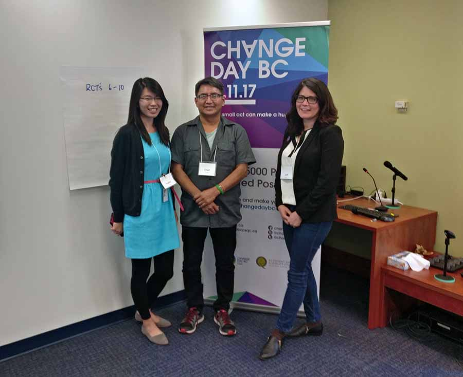 Sophie Wang, Chad Dickie and Leah Smith at the Change Agent Workshop.BCPSQC.Patient Voices Network