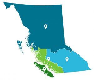 Map of regions of BC