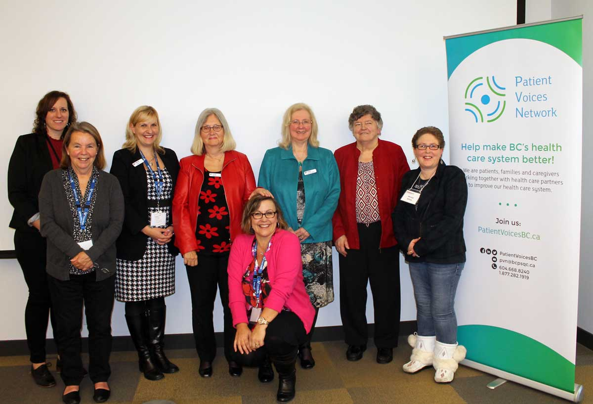 Engagement leader Jami Brown with a group of attendees at the 2016 Fraser Health Summit